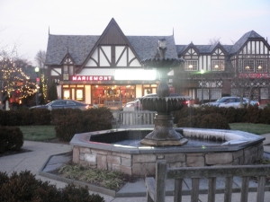 The Mariemont Theatre and town square.