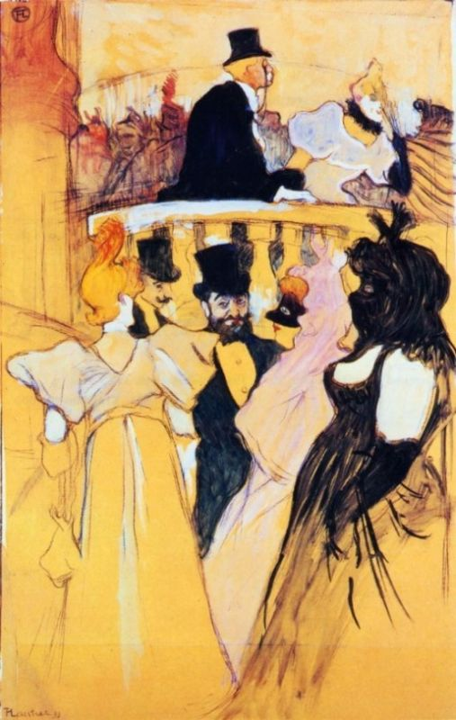 Henri de Toulouse-Lautrec - At the Opera Ball-border