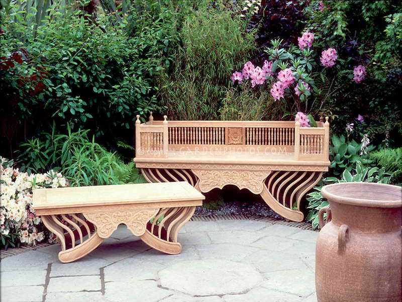 Day 127 something beautiful living in the outdoors for Beautiful wooden benches