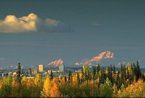 Anchorage and Mt McKinley