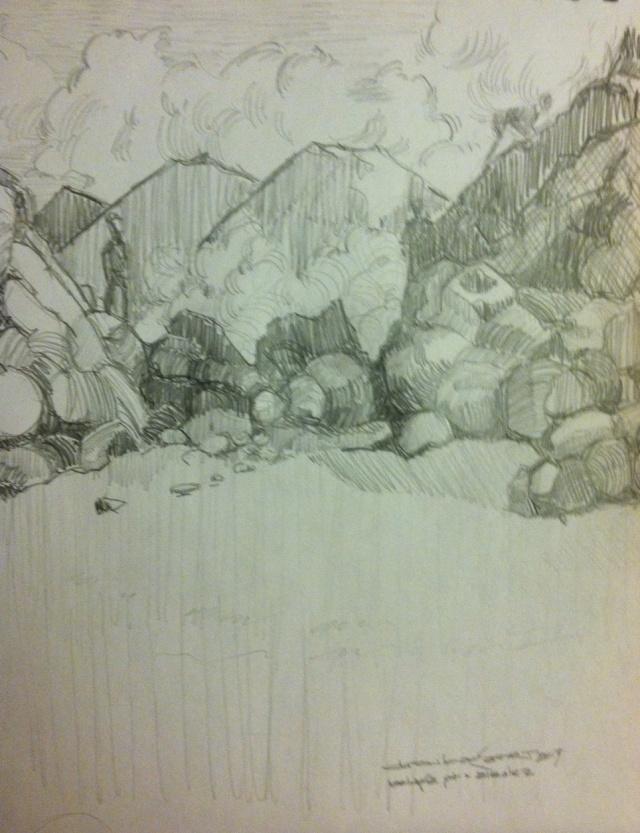 climbers sketch